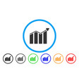 trend rounded icon vector image vector image