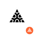 Triangle ancient tribal style logo Monumental vector image vector image