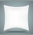 white cloth banner signboard vector image vector image