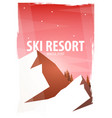 winter sport ski and snowboard mountain vector image