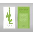 Woman doing yoga asanas flyers vector image