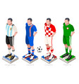 world cup soccer group vector image vector image