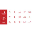15 grow icons vector image vector image