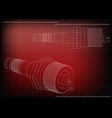 3d model of the spark plug vector image vector image