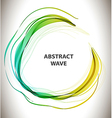 Abstract colorful background with circle wave vector image vector image