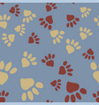 animal foot prints vector image