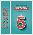 Birthday card invitation editable vector