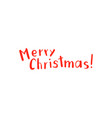 christmas lettering and calligraphy design vector image