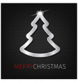 christmas tree on background vector image vector image