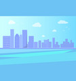 city landscape with river and skyscrapers vector image vector image