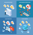 cloud technology isometric design concept vector image vector image