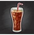 Coca cola color picture sticker vector image vector image