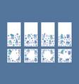 compositon of doodle cactus design set vector image vector image