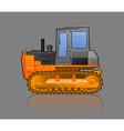 crawler tractor vector image vector image