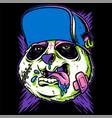crazy panda hand drawing vector image