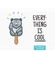 Cute polar bear popsicle ice vector image vector image