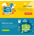 Data Protection Banner Set vector image