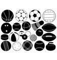 different game balls vector image vector image