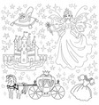 fairy tale coloring page for kids vector image