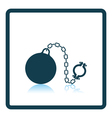 Fetter with ball icon vector image