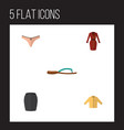 flat icon garment set of lingerie stylish apparel