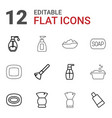foam icons vector image vector image