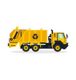 garbage truck commercial vehicles service vector image
