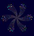 graduation cap cyclonic explosion vector image