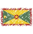 Grenada grunge flag vector image vector image