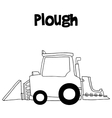 Hand draw of plough vector image vector image