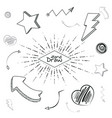 hand draw shapes and cartoons vector image vector image