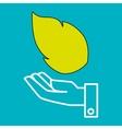 hand leaf tree nature vector image