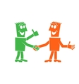 handshake two people vector image