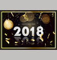 happy new year 2018 design card on modern vector image vector image