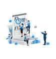 hiring big concept cv management vector image