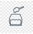 honey concept linear icon isolated on transparent vector image