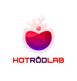 hot rod lab logo template vector image