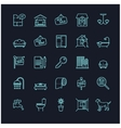 house and real estate stock icons vector image vector image