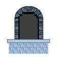 isolated wood and medieval door vector image