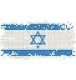 Israeli grunge tile flag