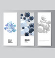 layout roll up mockup templates vector image vector image