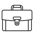 leather briefcase icon outline style vector image vector image