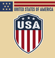 made in usa united states america usa flag vector image vector image