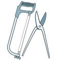 metal cutting tool vector image
