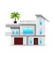 modern house with big windows isolated vector image vector image