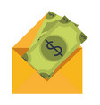 money envelope symbol vector image