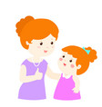 mother admire daughter character cartoon xa vector image vector image
