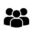 multi user icon three stick figure people group vector image vector image