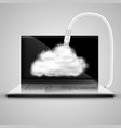notebook is connecting to cloud vector image