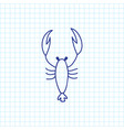 of zoo symbol on scorpion vector image